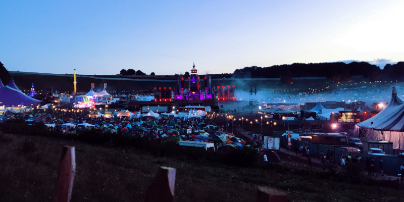 Image of Boomtown Festival at Dusk